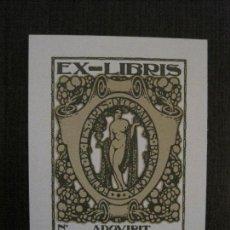 Arte: EX LIBRIS - ADQVIRIT - VER FOTOS - (X-2255). Lote 121277363