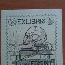 Arte: EX LIBRIS DEL DR. EDMUND KAMMEYER - MOTIVO TRASCENDENTAL. Lote 121286863