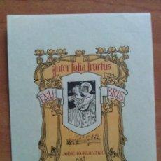 Arte: EX LIBRIS JORGE MONTSALVATJE - MOTIVO FEMENINO. Lote 121287399