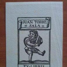 Arte: EX LIBRIS DE JUAN TORRE SALA - MOTIVO SATIRÍCO. Lote 121287515
