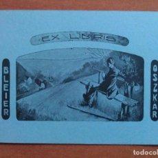 Arte: EX LIBRIS DE BLEIER OSZKAR - MOTIVO BUCÓLICO. Lote 121287643