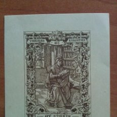Arte: EX LIBRIS CRHISTIAN SAHUTZ - MOTIVO LITERARIO. Lote 121346291