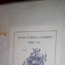 Arte: EX LIBRIS LA SEGUNDA VICORTIA. Lote 121354199