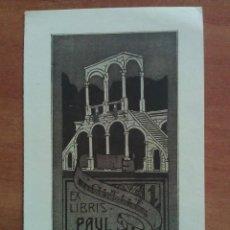 Arte: EX LIBRIS PAUL SINGER. Lote 121566575