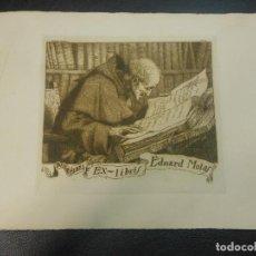 Arte: EX LIBRIS DE RAMON BORRELL AGUAFUERTE PARA EDUARDO MOLAS 1921 EXLIBRIS . Lote 123357599