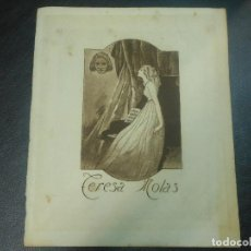 Arte: EX LIBRIS DE EDUARDO MOLAS AGUAFUERTE PARA TERESA MOLAS OPUS 2 RARO EXLIBRIS 1920. Lote 123363895