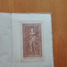 Arte: BOOK PLATES BY SARA EUGENIA BLAKE. 8 EXLIBRIS DE SARA EUGENIA BLAKE. 23X15CM.. Lote 124413627