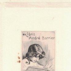 Arte: MALO RENAULT: EX-LIBRIS ANDRÉ BARRIER. Lote 126979139