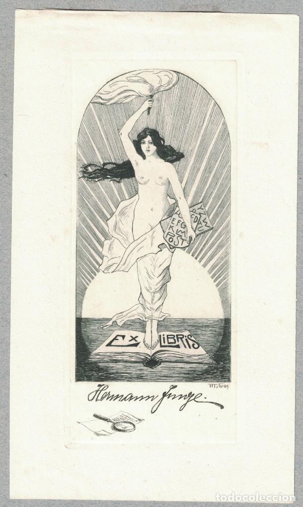 FISCHER-OELS, HELMA – EX LIBRIS HERMANN JUNGE (Arte - Ex Libris)
