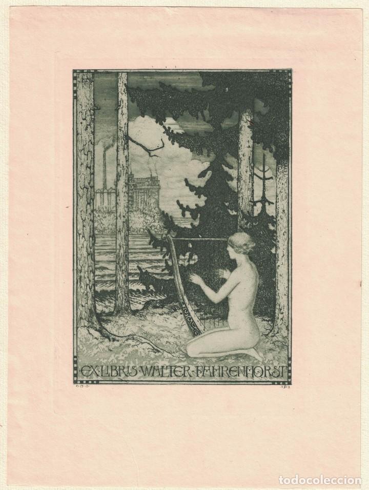 STELLA, GUIDO BALSAMO: EX-LIBRIS WALTER FAHRENHORST (Arte - Ex Libris)