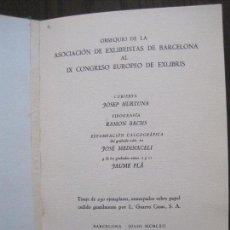Arte: EX LIBRIS -IX CONGRESO EUROPEO EXLIBRIS - AÑO 1962 - PAPEL GUARRO -VER FOTOS-(X-2267). Lote 127147687
