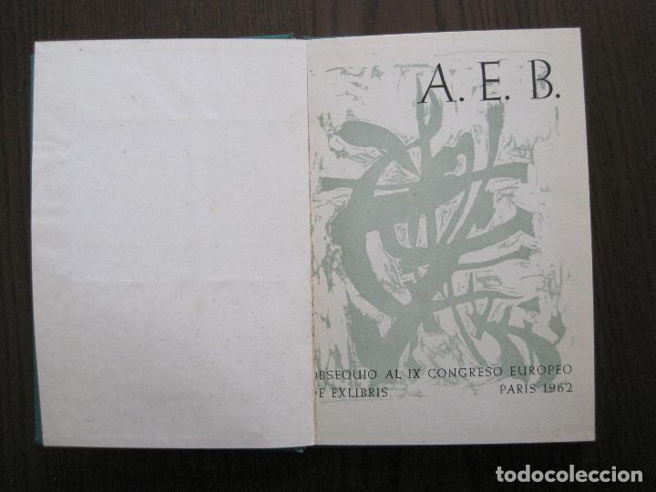 Arte: EX LIBRIS -IX CONGRESO EUROPEO EXLIBRIS - AÑO 1962 - PAPEL GUARRO -VER FOTOS-(X-2267) - Foto 7 - 127147687
