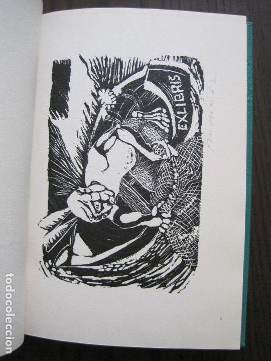 Arte: EX LIBRIS -IX CONGRESO EUROPEO EXLIBRIS - AÑO 1962 - PAPEL GUARRO -VER FOTOS-(X-2267) - Foto 8 - 127147687