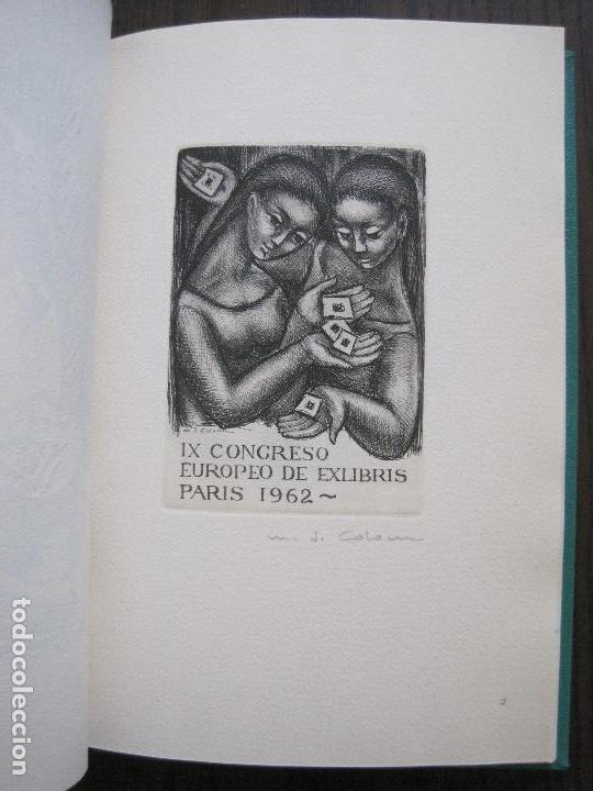 Arte: EX LIBRIS -IX CONGRESO EUROPEO EXLIBRIS - AÑO 1962 - PAPEL GUARRO -VER FOTOS-(X-2267) - Foto 9 - 127147687