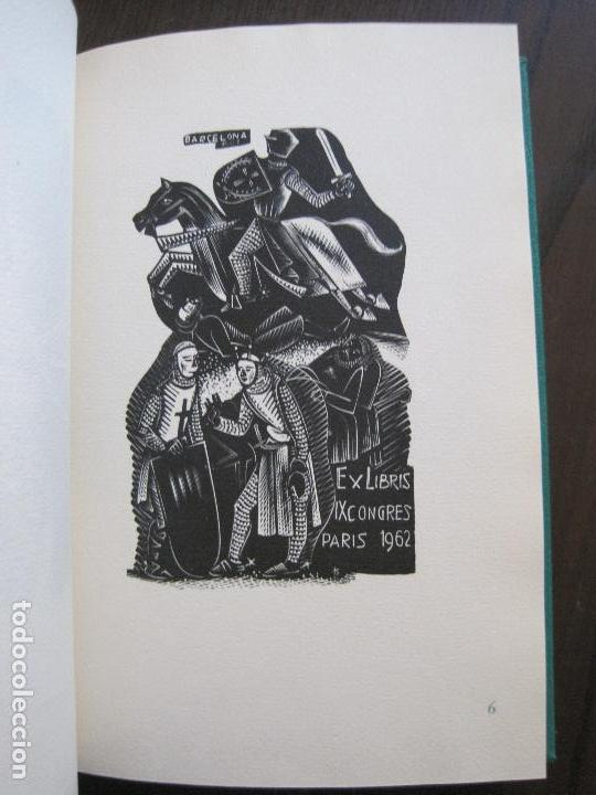 Arte: EX LIBRIS -IX CONGRESO EUROPEO EXLIBRIS - AÑO 1962 - PAPEL GUARRO -VER FOTOS-(X-2267) - Foto 13 - 127147687