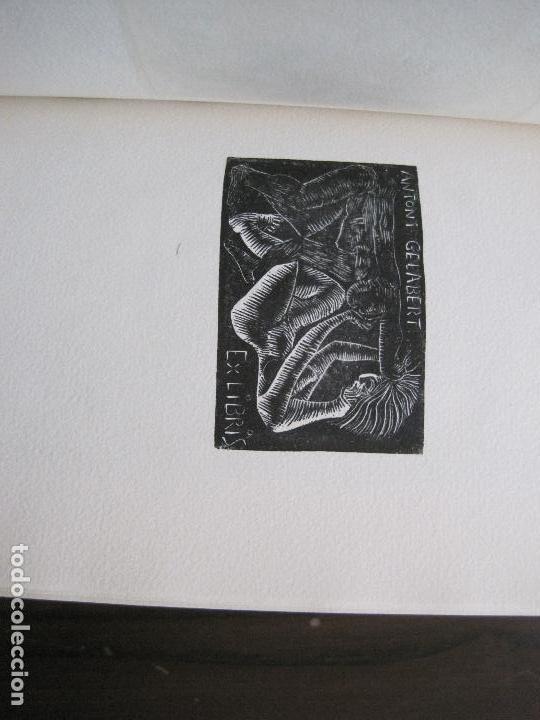 Arte: EX LIBRIS -IX CONGRESO EUROPEO EXLIBRIS - AÑO 1962 - PAPEL GUARRO -VER FOTOS-(X-2267) - Foto 19 - 127147687