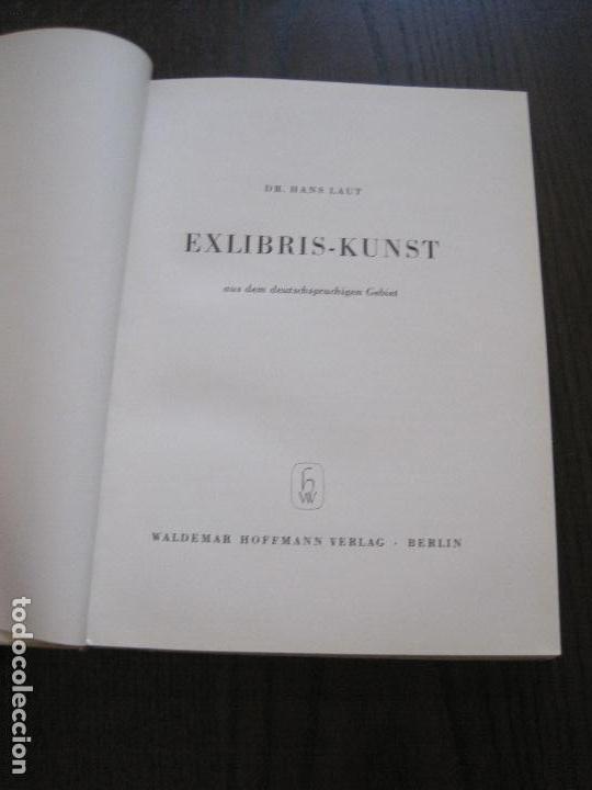 Arte: EX LIBRIS - KUNST - DR. HANS LAUT - BERLIN 1955 -VER FOTOS-(X-2268) - Foto 5 - 127147983