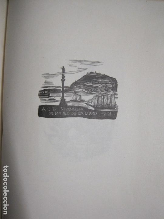 Arte: 20 EX LIBRIS-VI CONGRESO EUROPEO-MEDINACELLI -PLA..-AÑO 1958-PAPEL HILO GUARRO -VER FOTOS-(X-2270) - Foto 21 - 127149343