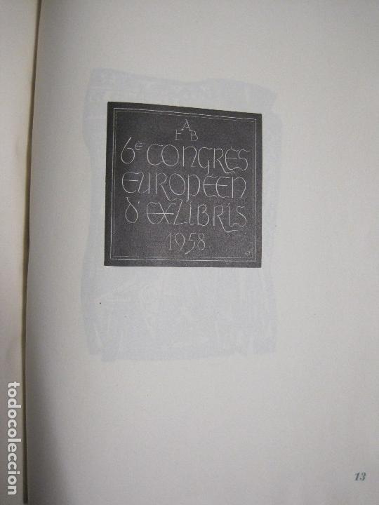 Arte: 20 EX LIBRIS-VI CONGRESO EUROPEO-MEDINACELLI -PLA..-AÑO 1958-PAPEL HILO GUARRO -VER FOTOS-(X-2270) - Foto 23 - 127149343