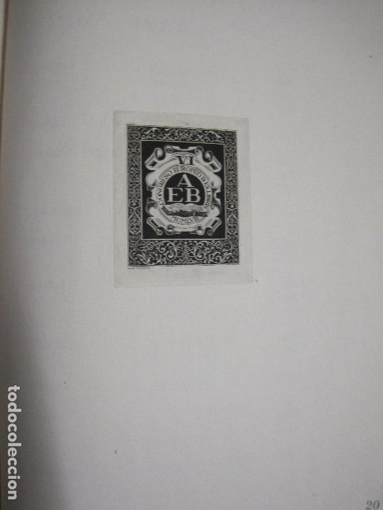 Arte: 20 EX LIBRIS-VI CONGRESO EUROPEO-MEDINACELLI -PLA..-AÑO 1958-PAPEL HILO GUARRO -VER FOTOS-(X-2270) - Foto 25 - 127149343