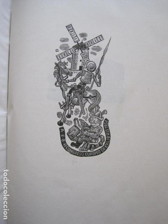 Arte: 20 EX LIBRIS-VI CONGRESO EUROPEO-MEDINACELLI -PLA..-AÑO 1958-PAPEL HILO GUARRO -VER FOTOS-(X-2270) - Foto 6 - 127149343