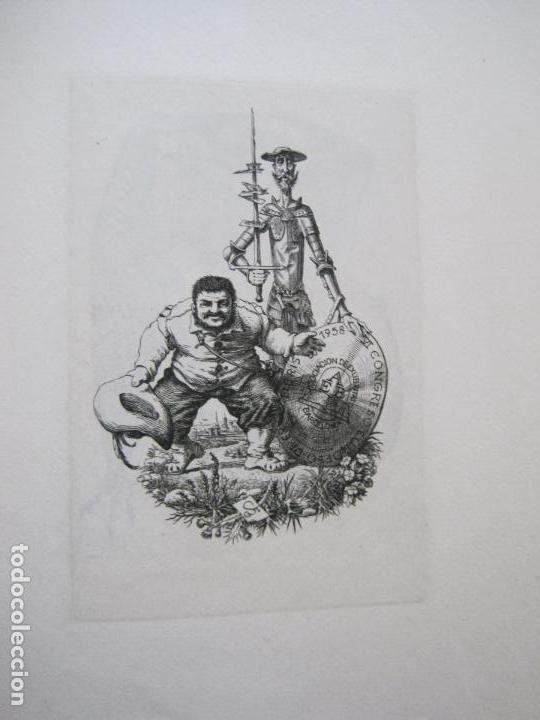 Arte: 20 EX LIBRIS-VI CONGRESO EUROPEO-MEDINACELLI -PLA..-AÑO 1958-PAPEL HILO GUARRO -VER FOTOS-(X-2270) - Foto 7 - 127149343