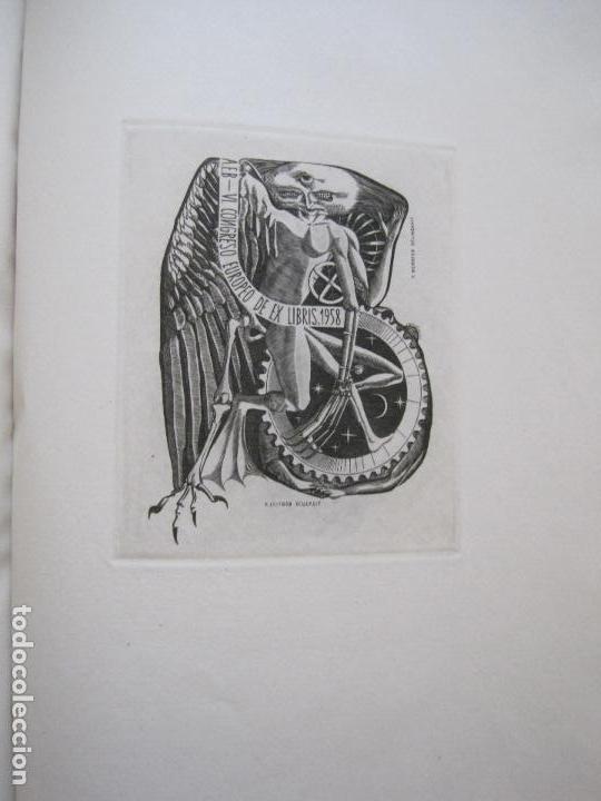 Arte: 20 EX LIBRIS-VI CONGRESO EUROPEO-MEDINACELLI -PLA..-AÑO 1958-PAPEL HILO GUARRO -VER FOTOS-(X-2270) - Foto 8 - 127149343
