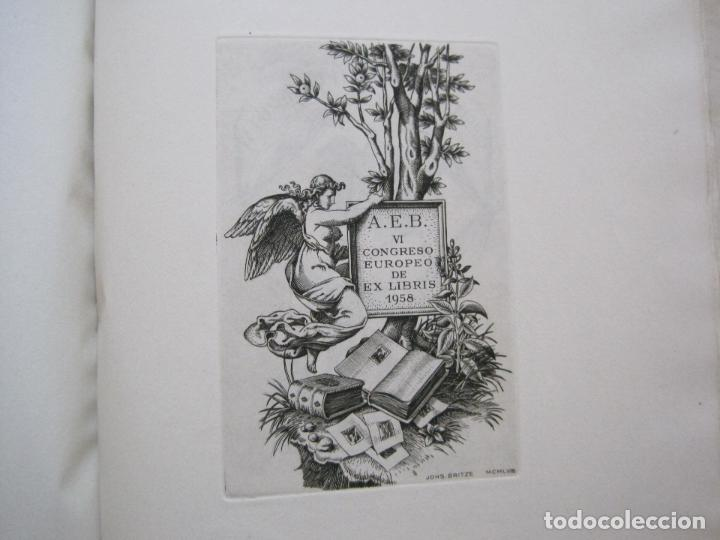 Arte: 20 EX LIBRIS-VI CONGRESO EUROPEO-MEDINACELLI -PLA..-AÑO 1958-PAPEL HILO GUARRO -VER FOTOS-(X-2270) - Foto 11 - 127149343