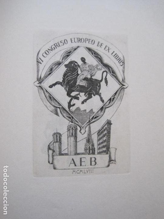 Arte: 20 EX LIBRIS-VI CONGRESO EUROPEO-MEDINACELLI -PLA..-AÑO 1958-PAPEL HILO GUARRO -VER FOTOS-(X-2270) - Foto 12 - 127149343