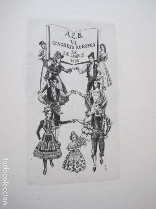 Arte: 20 EX LIBRIS-VI CONGRESO EUROPEO-MEDINACELLI -PLA..-AÑO 1958-PAPEL HILO GUARRO -VER FOTOS-(X-2270) - Foto 13 - 127149343