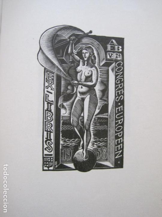 Arte: 20 EX LIBRIS-VI CONGRESO EUROPEO-MEDINACELLI -PLA..-AÑO 1958-PAPEL HILO GUARRO -VER FOTOS-(X-2270) - Foto 15 - 127149343