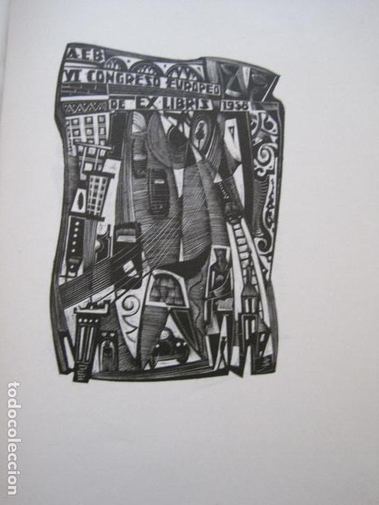 Arte: 20 EX LIBRIS-VI CONGRESO EUROPEO-MEDINACELLI -PLA..-AÑO 1958-PAPEL HILO GUARRO -VER FOTOS-(X-2270) - Foto 16 - 127149343