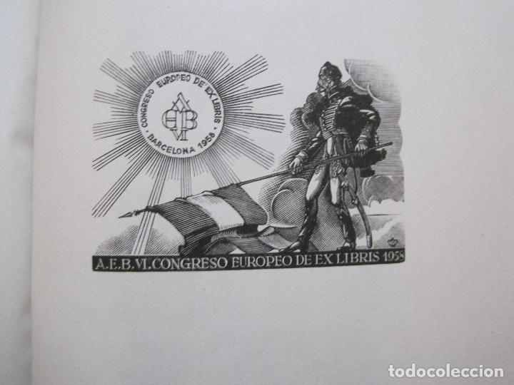 Arte: 20 EX LIBRIS-VI CONGRESO EUROPEO-MEDINACELLI -PLA..-AÑO 1958-PAPEL HILO GUARRO -VER FOTOS-(X-2270) - Foto 17 - 127149343