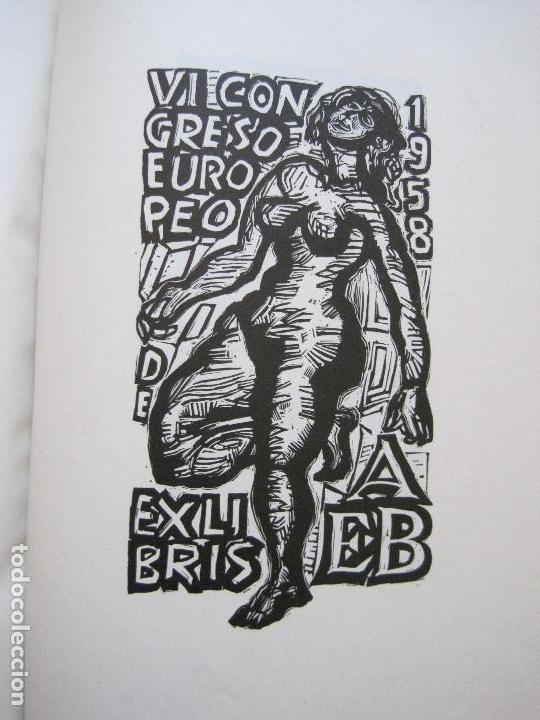Arte: 20 EX LIBRIS-VI CONGRESO EUROPEO-MEDINACELLI -PLA..-AÑO 1958-PAPEL HILO GUARRO -VER FOTOS-(X-2270) - Foto 18 - 127149343