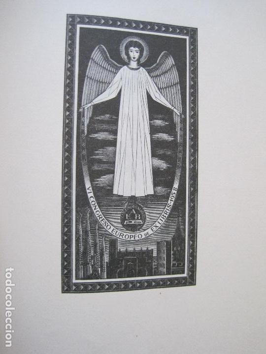 Arte: 20 EX LIBRIS-VI CONGRESO EUROPEO-MEDINACELLI -PLA..-AÑO 1958-PAPEL HILO GUARRO -VER FOTOS-(X-2270) - Foto 19 - 127149343