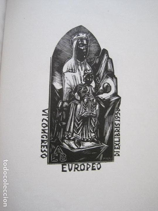 Arte: 20 EX LIBRIS-VI CONGRESO EUROPEO-MEDINACELLI -PLA..-AÑO 1958-PAPEL HILO GUARRO -VER FOTOS-(X-2270) - Foto 20 - 127149343