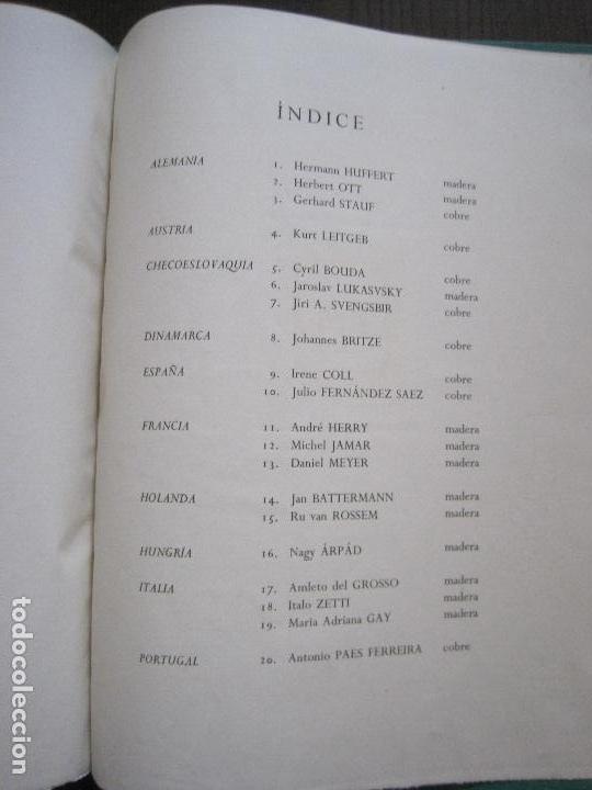 Arte: 20 EX LIBRIS-VI CONGRESO EUROPEO-MEDINACELLI -PLA..-AÑO 1958-PAPEL HILO GUARRO -VER FOTOS-(X-2270) - Foto 27 - 127149343
