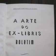 Arte: EX LIBRIS-A ARTE DO EX-LIBRIS - BOLETIM 1961-62- ASOCIACION PORTUGUESA -VER FOTOS-(X-2271). Lote 127150935