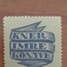 Arte: EX LIBRIS : KNER IMRE KONYVE. Lote 127752631