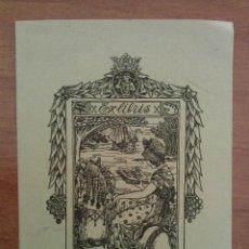 Arte: EX LIBRIS : EMMY GREB 7 1905 ?. Lote 127752739