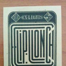 Arte: EX LIBRIS : FELIP LLONCH. Lote 127753679