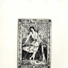 Arte: MARTÍN OLIETE. EX-LIBRIS PARA ADELA MELGAR. Lote 127775175