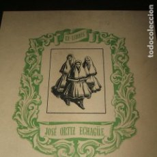 Arte: EX LIBRIS JOSE ORTIZ ECHAGÜE 14 X 15 CMTS. Lote 128561551