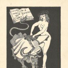 Arte: EX-LIBRIS DE FRANCESC GARDETA (PUCK) PARA DR. JOAN CATASÚS - 1951. Lote 128602739