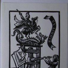 Arte: .311 EX-LIBRIS EXLIBRIS FRANZ STUMMVOLL. IMPRENTA SAN JORGE DRAGÓN. Lote 133290450