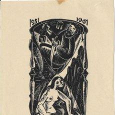 Arte: EX-LIBRIS D'ANTONI GELABERT I CASAS PARA LA AEB 1961. Lote 128867363