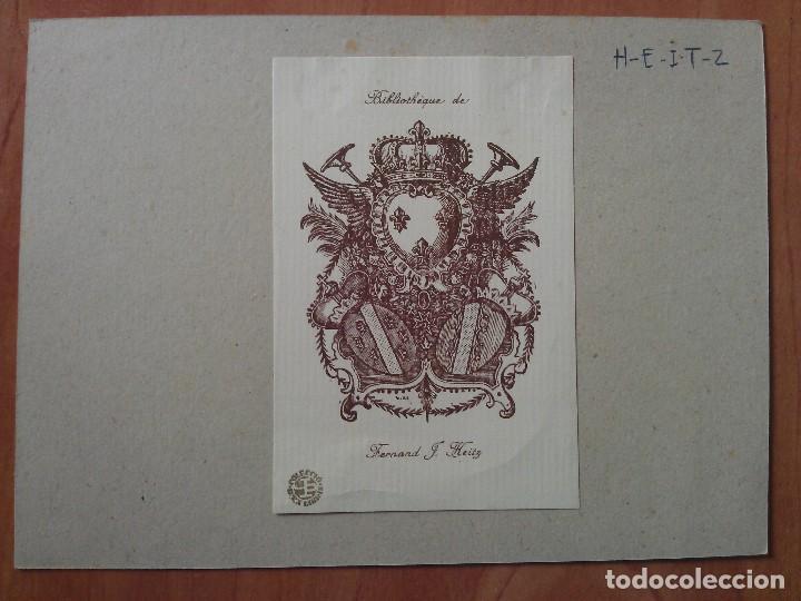 EX LIBRIS ; ESCUDO HERÁLDICO (Arte - Ex Libris)
