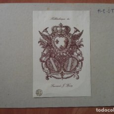Arte: EX LIBRIS ; ESCUDO HERÁLDICO . Lote 130207051