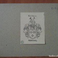 Arte: EX LIBRIS : ESCUDO HERÁLDICO. Lote 130207167