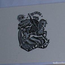 Arte: .300 EX-LIBRIS EXLIBRIS BOOKPLATE. SAN JORGE LIBRO. Lote 133288546